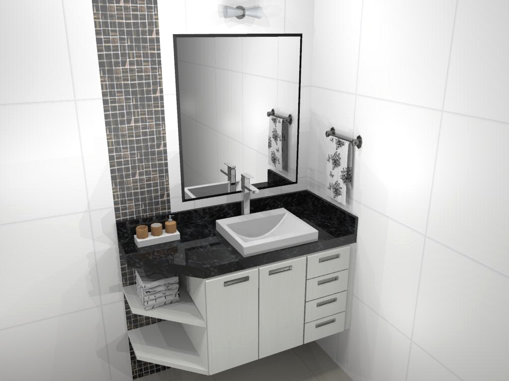 Banheiro Móveis Cujinotti #64594D 1024 768